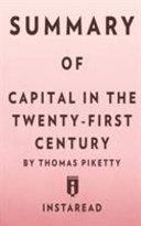 Summary of Capital in the Twenty First Century