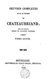 Oeuvres complètes de M. le Vicomte de Chateaubriand: Volume28