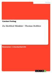 Zu: Herfried Münkler - Thomas Hobbes