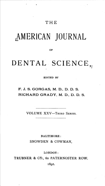 American Journal Of Dentistry