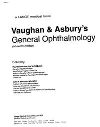 Vaughan   Asbury s General Ophthalmology PDF