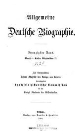 Allgemeine deutsche Biographie: Volume 20