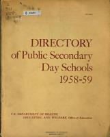 Directory of Public Secondary Day Schools PDF