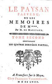 Le paysan parvenu, ou Les memoires de M***: Volume2