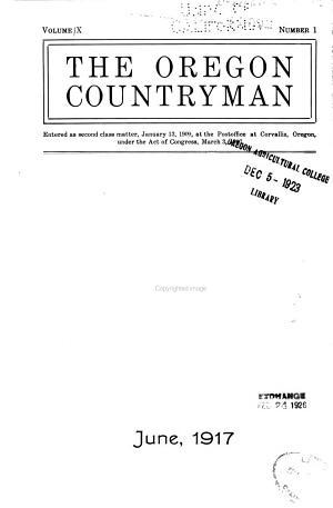 The Oregon Countryman