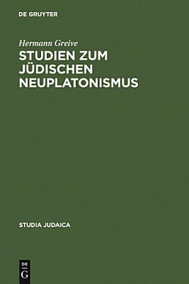 Studien zum j  dischen Neuplatonismus PDF