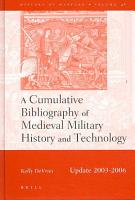 A Cumulative Bibliography of Medieval Military History and Technology PDF