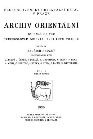 Archiv Orient  ln   PDF