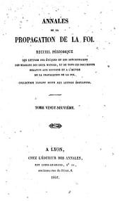 Annales de la propagation de la foi: Volume29
