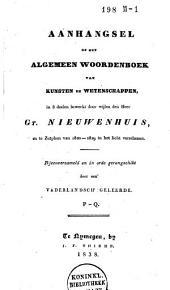 Algemeen aanhangsel op het algemeen woordenboek van kunsten en wetenschappen