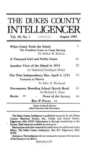 The Dukes County Intelligencer