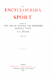 The Encyclopaedia of Sport: Volume 2