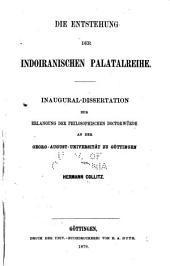 Die Entstehung der indoiranischen Palatalreihe
