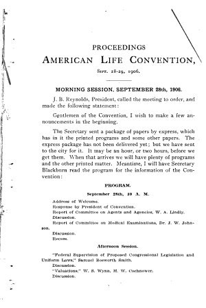Report of the Proceedings of the Annual Meeting of the American Life Convention PDF