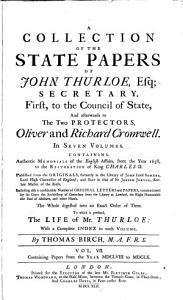 A Collection of the State Papers of John Thurloe      1658 to 1660 PDF