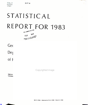Statistical Report of the Department of Revenue of the State of Georgia PDF