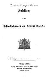 Anleitung zu den instandsetzungen am gewehr M/71/84