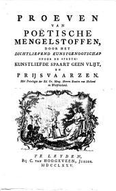Proeven van poëtische mengelstoffen: Volume 3