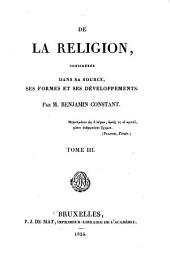 De la religion: considérée dans sa source, ses formes et ses développements, Volume3