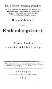 Handbuch der Entbindungskunst: Band 1,Ausgabe 2