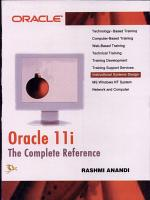 Oracle 11i - The Complete Reference