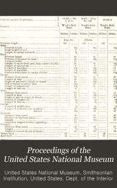 Proceedings of the United States National Museum: Volume 1