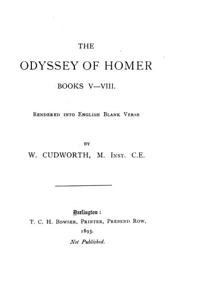 Download The Odyssey of Homer  Books V VIII Book