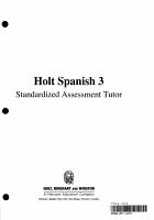 Expresate Level 3  Grade 6 Standardized Assessment Tutor PDF