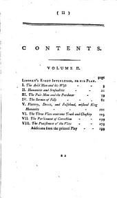Scotish Poems: Lindsay's eight interludes, or his play. Additions from the printed play
