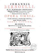 Johannis Bernoulli ... Opera omnia: tam antea sparsim edita, quam hactenus inedita, Volume3