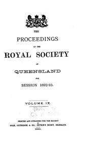 Proceedings of the Royal Society of Queensland: Volumes 9-14