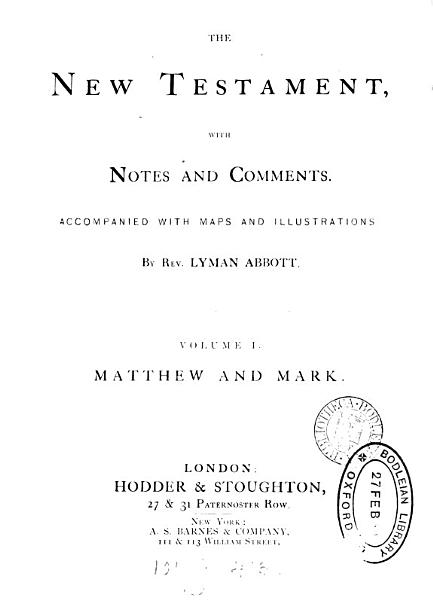 The New Testament  with notes and comments by L  Abbott PDF