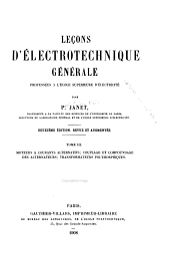 Leçons d'electrotechnique générale: Volume3