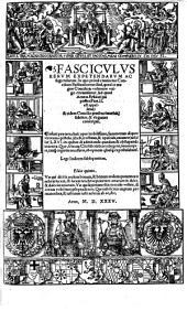 Fasciculus rerum expetendarum ac fugiendarum, in quo continentur concilium Basileense, quod Aeneas Sylvius conscripsit (etc.)