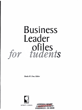 Business Leader Profiles for Students PDF
