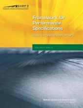 Framework for Developing Performance Specifications: Guide for Specification Writers