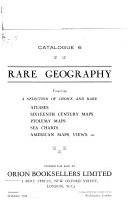 Geography Catalogues  Rare geography  Fabrica mundi  Fine books  manuscripts  atlases  maps  views PDF