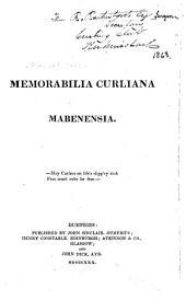 Memorabilia Curliana Mabenensia