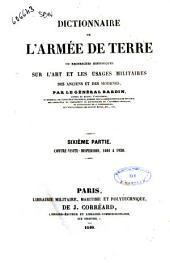 Dictionnaire de l'armée de terre, ou Recherches historiques sur l'art et les usages militaires des anciens et des modernes par le Général Bardin: 6