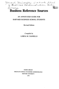 Business Reference Sources PDF
