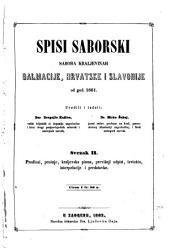 Saborski spisi Sabora Kraljevinah Dalmacije, Hrvatske i Slavonije: Issues 2-3