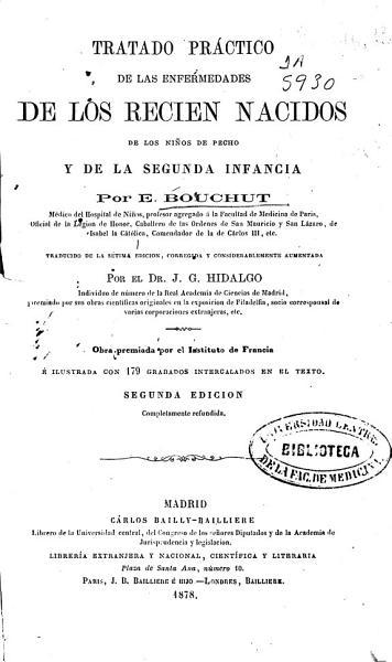 Tratado Practico De Las Enfermedades De Los Recien Nacidos De Los Ninos De Pecho Y De La Segunda Infancia
