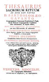 Thesaurus sacrorum rituum: Volume 2