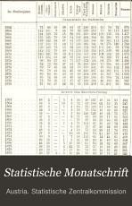 Statistische monatschrift PDF