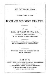 An Introduction to the study of the Common-Prayer Book