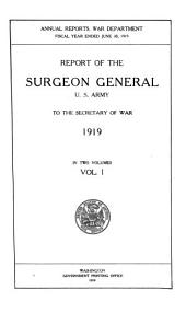 Annual Report of the Surgeon General, U.S. Army