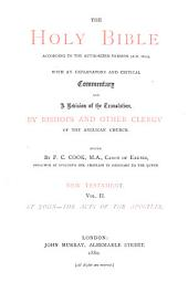The Holy Bible According to the Authorized Version (A.D. 1611): With an Explanatory and Critical Commentary and a Revision of the Translation, by Bishops and Other Clergy of the Anglican Church, Volume 8