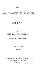 The Great Governing Families of England: Volume 2