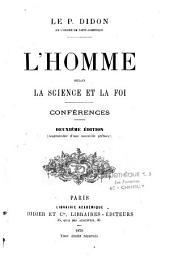 L'homme selon la Science et la Foi