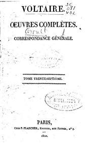 Oeuvres complètes: Correspondance générale [6], Volume37